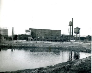Jo Whitten Gelatin Factory seen from Leonard Pool, circa 1932